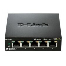 D-Link 5 PORT SWITCH GIGABIT Ethernet NETZWERK  Metall-Gehäuse 1 Gbit/s LAN