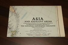 Vintage NATIONAL GEOGRAPHIC MAPS -  MAP of ASIA & ADJACENT AREAS 1952