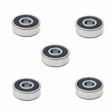 5x 6301 2RS Rubber Sealed Deep Groove Ball Bearings - 12x37x12 mm
