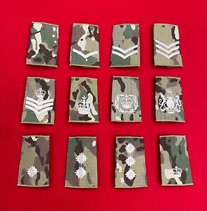 MTP Rank Slides, Ivory Thread Plain Multicam Uniform Combats Army Military