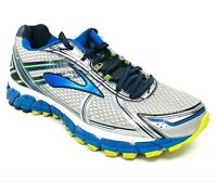 Brooks Men's GTS 15 Running Shoes Sneakers Silver Blue Walking Shoes Size 8.5