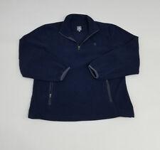 Champion Fleece Authentic Apparel 1/2 Zip Crewneck Pullover Sweatshirt Sz Large