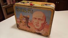 Vintage 1974 Thermos Kung Fu Metal Lunchbox David Caradine - Missing Handle