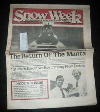 Vintage Snow Week Snowmobile Newspaper Weekly Arctic Cat Ski Doo Polaris Yamaha