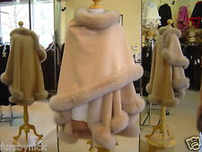 Honey Cashmere Cape With Fox Fur Trim Beautifully Canadian Label