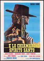 E LO CHIAMARONO SPIRITO SANTO MANIFESTO SPAGHETTI WESTERN 1971 MOVIE POSTER 2F