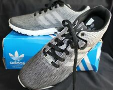 85fe5ae6f1cff New in Box Men s Adidas ZX Flux Weave Core Gray White Torsion Shoes 13