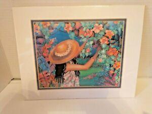 "Susan Patricia Double Matted 1995 Hawaiian Artist ""BRING ME JOY"" RARE"
