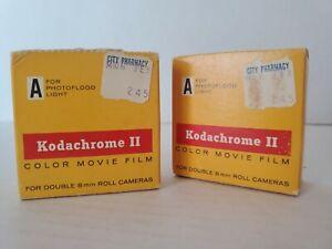 (2) Sealed Kodak Kodachrome II Color Movie Film for 8mm Cameras. Expired