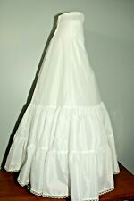 "White Slip Petticoat Wedding Dress Bridal Tulle Skirt Small 26"" W 44"" L Zipper"
