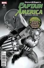 Captain America # 2 Sdcc Black & White Variant Marvel Comics First Printing 2016