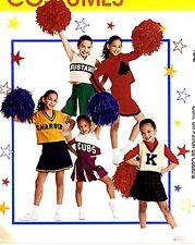 Girls & Teens Cute Cheerleader Uniform Costume Sewing Pattern 12-14 McCalls 2849