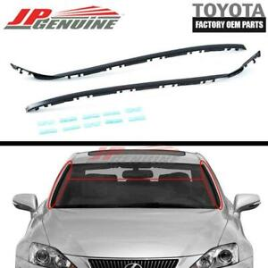 GENUINE LEXUS IS250 IS350 F OEM DRIVER + PASSENGER SIDE WINDSHIELD MOULDING KIT