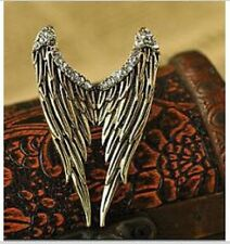 Gift for her Unusual Angel Wings Adjustable Ring Crystal Guardian Christmas