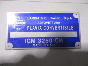 Lancia Nameplate Flavia Convertible Cabriolet