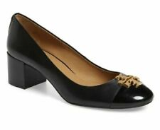 Tory Burch Women's Everly 50 MM Cap-Toe Pump Black Size 9 New