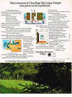 PUBLICITE ADVERTISING 024   1972   CHAUFFAGE ELECTRIQUE INTEGRE