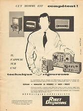 Publicité Advertising 1958  RIBET DESJARDINS télévision récepteur radio