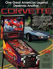 CORVETTE Original Promo Pinball Flyer BALLY 1994 MINT