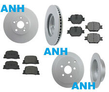 Scion tC Complete Brake Job/4-Anti Rust Coated Rotors/Front & Rear Ceramic Pads