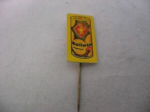 Bolletje Yellow Vintage Foreign Mens Hat Stick Pin Advertising
