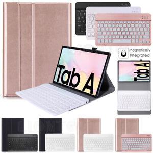Wireless Bluetooth Keyboard Leather Case For Samsung Galaxy Tab A7 2020 T500 505
