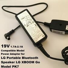 19V 1.7A- 2.1A Charger for LG Portable Bluetooth Speaker, LG XBOOM Go, PK 7