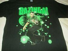 Big Bang Theory BAZINGA Neon Green Sheldon T Shirt Size Nerd Small