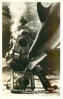 Amusement 1940s Feeding time Marine Studios Florida RPPC Photo Postcard 6950