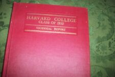 RARE CLASS OF 1910 HARVARD COLLEGE VICENNIAL REPORT  RED BOOK YEARBOOK VG COND