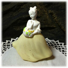 Vintage Avon Cotillion Cologne Flower Maiden Girl with Basket Yellow Skirt