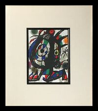 Joan Miro Original Lithograph (Framed Abstract Fine Art Modern Art)