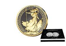 Britannia 1 Onza Plata 2020 Con Rutenio Y Oro Plus Caja de Monedas