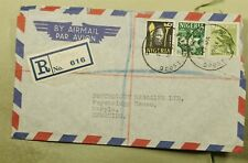 DR WHO 1961 NIGERIA OSHODI TO GB REGISTERED AIR MAIL C197353