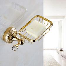 Wall Mount Bathroom Bath Shower Soap Dish Basket Storage Holder Brass Gold Color