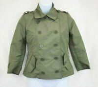 dELiA*s Olive Green Jacket Button Front Women's Junior's Long Sleeve Size XS