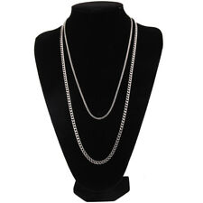 Women Men Stainless Steel Cuban Curb Link Hip Hop Chain Choker Necklace Jewelry