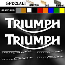 set adesivi sticker TRIUMPH speed triple prespaziato decal moto 25cm