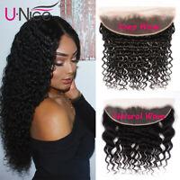UNice Hair Deep Wave 13*4 Lace Frontal Closure Malaysian Natural Wave Human Hair