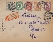 Lettre Recommandée Suomi Finlande Helsinki pour Paris 1920 Cover Finland