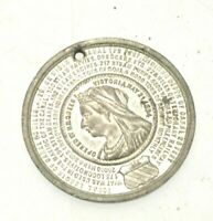 Manchester 1894 Opening of Ship Canal Medal 36mm White Alloy metal. Scarce