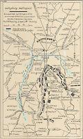 Gettysburg Battlefield 1863 Civil War Map Military Wall Poster Battle History