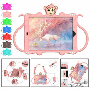 Soft Silicone Case For iPad Mini 1 2 3 4 5 Kids Handle Stand with Shoulder Strap