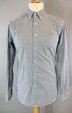Uniqlo Mens Long Sleeve Grey Cottons Shirts Sz S Buttons Down VGC Fast Shipping