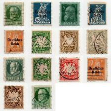 Altdeutschland BAYERN Konvolut Lot DR Deutsches Reich gestempelt 14 Briefmarken