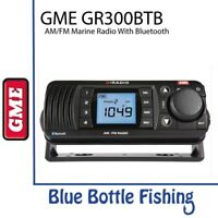GME GR300BTB AM/FM Marine Radio with Bluetooth - Black