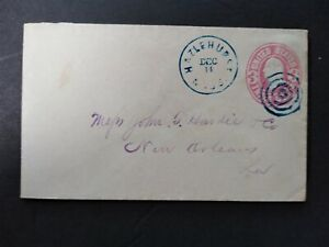 Mississippi: Hazelnut 1860s Cover, Blue CDS & Target Cancel, Copiah Co