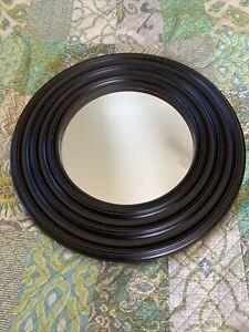 Decorative- Mirror - 29 Inch Round Decorative Mirror Dark mahogany color