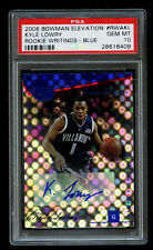 2006-07 Bowman Elevation Kyle Lowry Rookie /99 Blue PSA 10 Gem Mint RC Auto