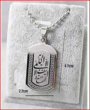 Platinum plated Religious Islamic Arabic Allah Stainless Steel  Pendant Necklace